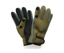 LumiParty 2 Vingers Cut Ijsvissen Handschoenen Warm Jacht Handschoenen Duiken Stof Antislip Camping Fietsen Half Vinger Handschoenen Pesca