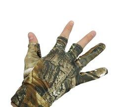 NEWBOLER Vingerloze Jacht Vissen Camo Gel Handschoen Camouflage Comfortabele Anti Slip Elastische Vissen Handschoenen Skidproof Antislip