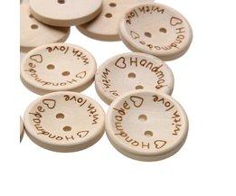 100 Stks/zak 15mm/20mm/25mm 2 Gaten Houten Knoppen Handgemaakte Brief Liefde Scrapbooking Voor Bruiloft decoratie