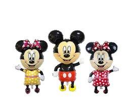 110 cm Giant Mickey Minnie Opblaasbare Speelgoed Cartoon Folie Verjaardag Ballon Airwalker Ballonnen voor Kids Baby Speelgoed