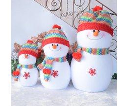 Mooie Schuim Sneeuwpop speelgoed Kerstversiering Regenboog hoed Kerstman Familie Beste Kerstcadeaus Decoraties familie S/M/L HFD75