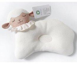 Leuke Baby Beddengoed Foam Kussen Voorkomen Platte Kop Zuigeling Kussens Ondersteuning Pasgeboren Baby Anti-migraine Kussen Vorm Kids kussens