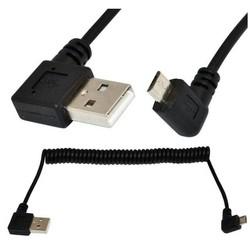MyXL LBSC 5Ft Spiraal Spiraal USB micro 5 Pin links schuine Man USB 2.0 Een links man Kabel