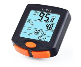 BOGEER FIETSCOMPUTER Draadloze Fietscomputer Snelheidsmeter Digitale Kilometerteller Stopwatch Thermometer LCD Backlight Regendicht Zwart