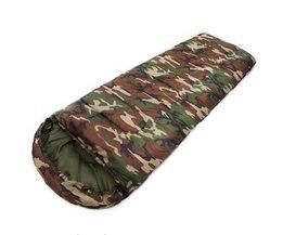 JHO-Katoen Camping slaapzak 15 ~ 5 graden envelop stijl camouflage Multifuntional Outdoor Slaapzak Reizen Warm Houden LazyBag