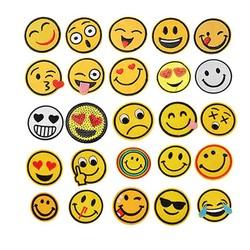MyXL Hoomall 25 Stks Iron Patches Voor Kleding Emoji Borduren Patch Streep Toepassingen Stof Badges Handgemaakte Stickers DIY Craft