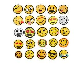Hoomall 25 Stks Iron Patches Voor Kleding Emoji Borduren Patch Streep Toepassingen Stof Badges Handgemaakte Stickers DIY Craft