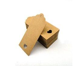 Hollow Hart Kraft Custom Kleding Label Tags Etiquetas Para Ropa Goede Kwaliteit Kleding Bagage Label Tags 50 STKS