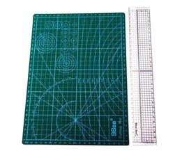 Patchwork Tool Combinatie Huishoudelijke Hand Naaien Levert Acryl Materiaal 5*30 cm Patchwork Liniaal En A4 Snijmat