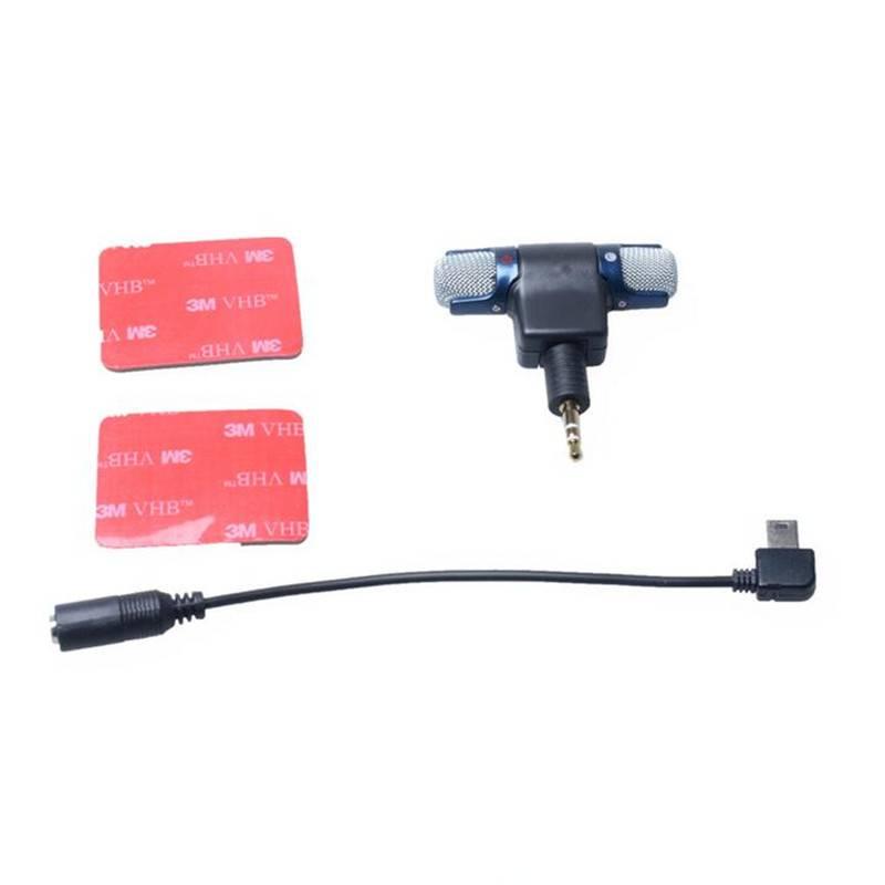 Externe Stereo Mic Microfoon voor Go pro Accessoires Micro telefoon 3.5mm Mini USB Adapter Kabel Voo
