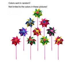 10 Stks Plastic Windmolen Pinwheel Wind Spinner Kids Speelgoed Gazon Tuin Party Decor