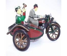 Antiek Stijl Tin Speelgoed Wind Up Speelgoed Robots iron Metalen Modellen voor Kinderen/Volwassen Woondecoratie Craf Ms804 motorfiets