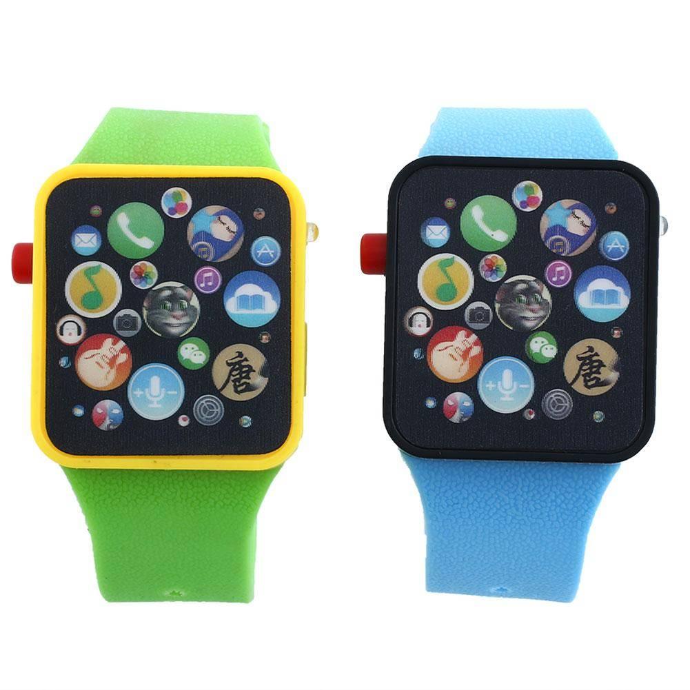 Koop Kids Baby Educatief zuigelingsjongen-Meisje Pols Touch Horloge Sport Armband Flash Slimme Senso