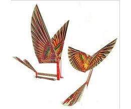10 STKS Wetenschap Kite Speelgoed DIY Rubber Band Power Baby Kids Volwassenen Handgemaakte DIY Bionische Vliegtuig Ornithoptermodellen Vogels Modellen