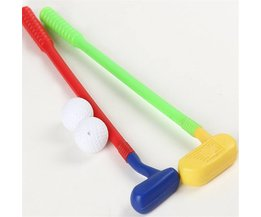 Kinderen Kids Golf Club Speelgoed 2 Golfclubs + 2 Golf bal Speelgoed Mini Golf Game Sport voor Baby Grijpen Vermogen Ontwikkelen