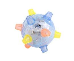 LED Springen Joggle Geluid Gevoelige Vibrerende Aangedreven Bal Game Kids Knipperende Bal Speelgoed