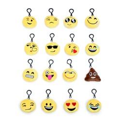 MyXL 1 Set = 16 Stks Mini leuke Emoji Nieuwigheid Sleutelhangers Knuffel Voor Mobiele Telefoon Bag Hanger Party Decoraties