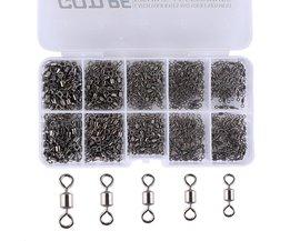 Goture 500 stks/partij Vissen Wartels 4 #6 #8 #10 #12 # Rolling Swivel Connector Voor Vissen haken Visgerei Accessoires