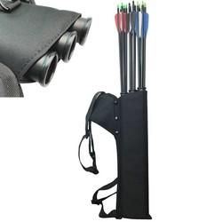 MyXL Zwart Quiver 3 Tubes Pijl Pijlkoker Buis Pijl Houder Draagbare Back/Taille Strape Jacht Tas Boogschieten Accessoires Schieten