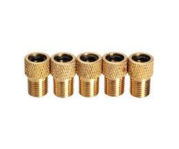 5 stks/partij Converter Presta schrader Tube Pomp Tool Converter Fiets Ventiel Adapter Fiets Pomp Accessoires