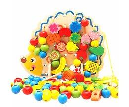 Leren Onderwijs Houten Speelgoed 82 Stks Egel Fruit Kralen Montessori Oyuncak Educatief Speelgoed Voor Kinderen