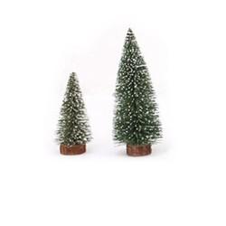 MyXL 6 stks Mini Kerstboom Stok Wit Ceder Desktop Kleine Kerstboom Desktop Mini Kerst Decoratie Voor Thuis Xmass