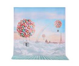 Andoer 1.5*2 m Fotografie Achtergrond Achtergrond Ballons Regenboog Blauw Sky Patroon voor Kinderen Baby Fotostudio Portret Schieten