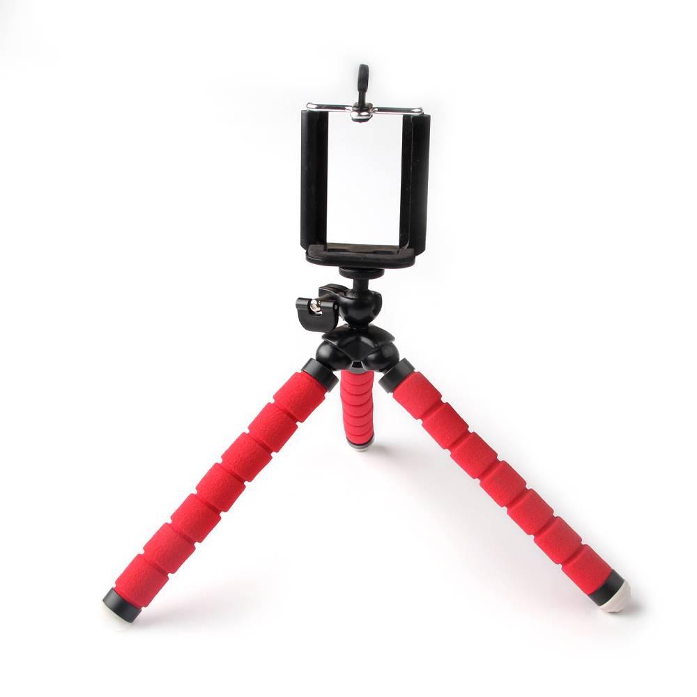 Universele Telefoon houder flexibele statief, camera stand rode octopus voor iphone mobiele foto fot