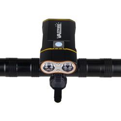 MyXL USB Oplaadbare Stuur Koplamp 6000LM Voorzijde Fiets Licht 2X XM-L2 LED Lamp Ingebouwde 6000 mAh Batterij voor Fietsen