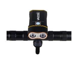USB Oplaadbare Stuur Koplamp 6000LM Voorzijde Fiets Licht 2X XM-L2 LED Lamp Ingebouwde 6000 mAh Batterij voor Fietsen