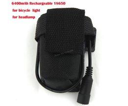 4x18650 6400 mAh Oplaadbare 18650 Li-Ion Batterij Fiets Light Accu Tas voor 8.4 V Koplamp Koplamp