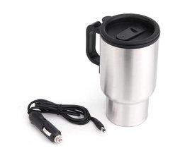 12 V 450 ml AutoKetel Voertuig Gemonteerd Thermische Reiskop Handy Cup thermostaat Fles Koffie Verwarmde Mok Water Heater