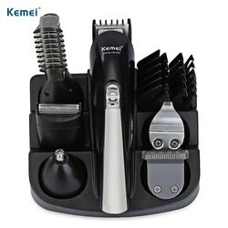 MyXL Kemei KM-600 6 in 1 Hair Trimmer Titanium Tondeuse Scheerapparaat Baardtrimmer Mannen Styling Tools Scheren Machine 100-240 v