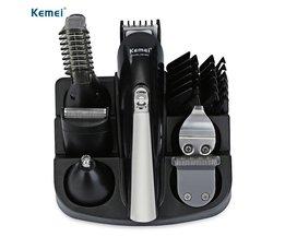 Kemei KM-600 6 in 1 Hair Trimmer Titanium Tondeuse Scheerapparaat Baardtrimmer Mannen Styling Tools Scheren Machine 100-240 v