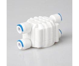 """Waterfilter delen 1/4"""" od buis automatische uitschakeling 4-weg klep drukregelaar aquarium waterzuiveraar omgekeerde osmose machine"""