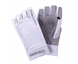 Maximumcatch Vissen Handschoenen Maat L/XL Vliegvissen Uv Zonwering Half Vinger 50 + UPF Outdoor