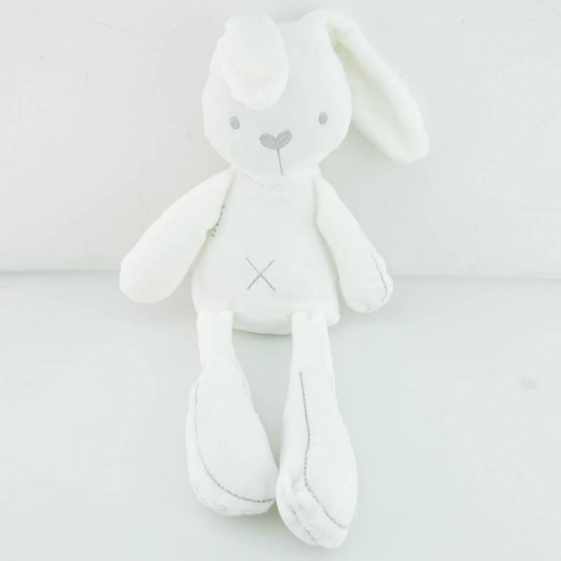 Prmotion speelgoed wit schattige konijn zachte knuffels babypop slapen comfort poppen speelgoed gesc