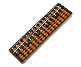 M89CPlastic Abacus 15 Cijfers Rekenkundige Tool Kid's Math Leren Aid Caculating Speelgoed Geschenken