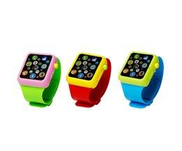 Fun Smart Speelgoed Horloge Muzikale Leren Machine 3D Touchscreen Horloge Vroege Onderwijs Speelgoed Elektrische Muziek Polshorloge Speelgoed