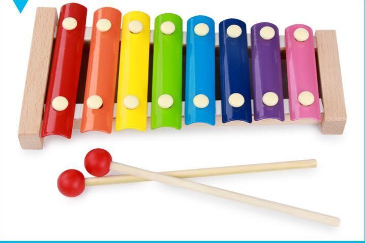 Laten maken Baby Speelgoed Houten Octaaf Piano Leren Onderwijs Montessori Speelgoed Baby Verjaardags