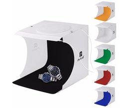 "PULUZ 8 ""2LED Panelen Vouwen Draagbare Light Box Foto Verlichting Studio ShootingTent Doos Kit Emart Diffuse Studio Softbox lightbox"