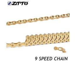 ZTTO 9 s 18 s 27 s 9 Speed MTB Mountainbike Wegfiets onderdelenDuurzaam Goud Gouden Ketting voor Shimano SRAM Systeem