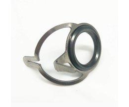 SHUNMIER 9 stks Keramische Gids Ringen Rvs DIY Boot Staaf Casting Snakehead Hengel Tips Ring voor Repareren Accessoires