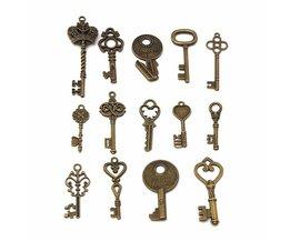 Decoratie Sleutels in 14 verschillende vormen