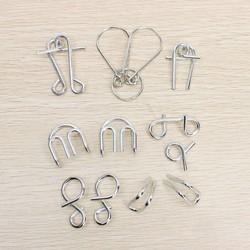 MyXL Metalen IQ Sleutels Puzzels Set van 7 Stuks