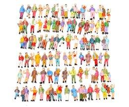 Miniatuur Poppetjes Treinpassagiers 100Stuks