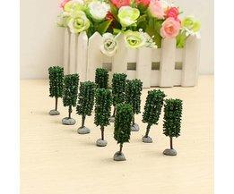 Modelbouw Miniatuur Bomen 4,5CM 10Stuks
