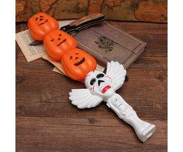 Halloween Artikelen Pompoen LED Lamp met Geluid