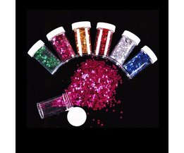 Glitter Sterretjes 12Potjes Diverse Kleuren