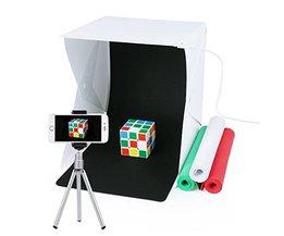 Draagbare Fotostudio, URiver Mini Klaptafel Top LED Licht Doos en Fotografie Verlichting Tent met 4 Backdrops Kit